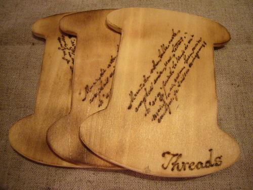 焼き焼き糸巻板